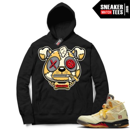 OFF White Jordan 5 Sail Sneaker Hoodies Black Misunderstood Puppy