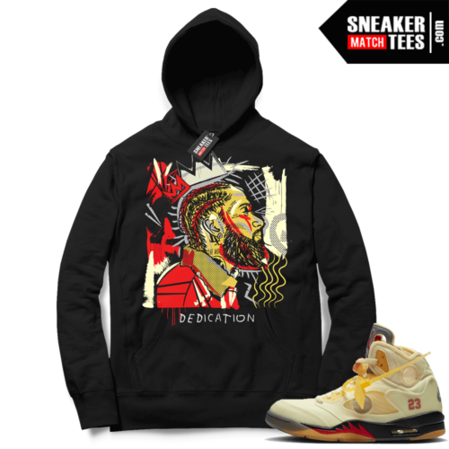 OFF White Jordan 5 Sail Sneaker Hoodies Black Nipsey Basquiat
