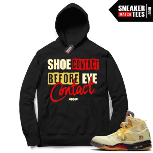 OFF White Jordan 5 Sail Sneaker Hoodies Black Shoe Contact