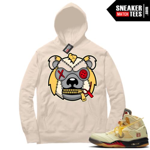 OFF White Jordan 5 Sail Sneaker Hoodies Sail Misunderstood Grizzly