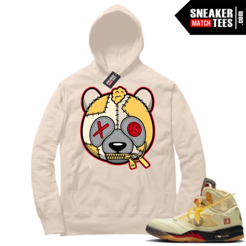 OFF White Jordan 5 Sail Sneaker Hoodies Sail Misunderstood Panda