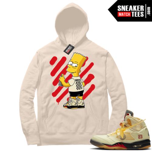 OFF White Jordan 5 Sail Sneaker Hoodies Sail OFF-Bart
