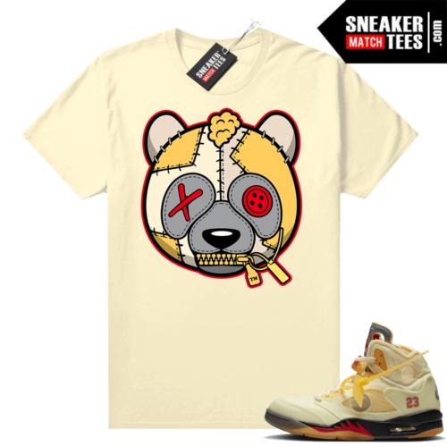 OFF White Jordan 5 Sail Sneaker Tees Shirts Sail Misunderstood Panda