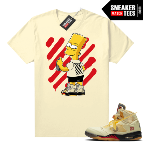 OFF White Jordan 5 Sail Sneaker Tees Shirts Sail OFF-Bart