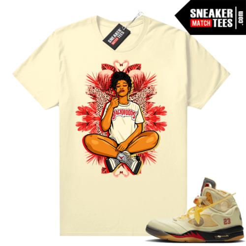 OFF White Jordan 5 Sail Sneaker Tees Shirts Sail Vibes