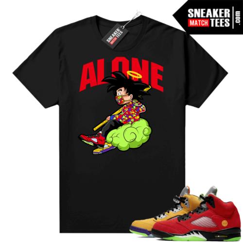 What the 5s Jordan Sneaker Tee Shirts Black Alone