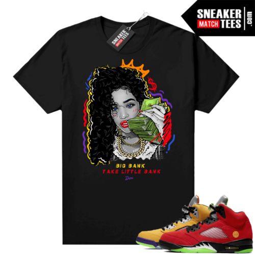 What the 5s Jordan Sneaker Tee Shirts Black Big Bank