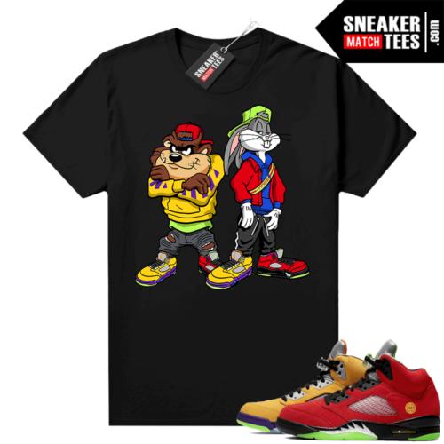 What the 5s Jordan Sneaker Tee Shirts Black Bugz and Taz