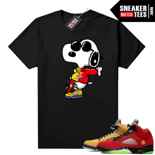 What the 5s Jordan Sneaker Tee Shirts Black Fly Snoopy