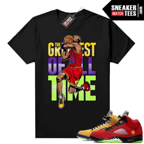 What the 5s Jordan Sneaker Tee Shirts Black Greatest