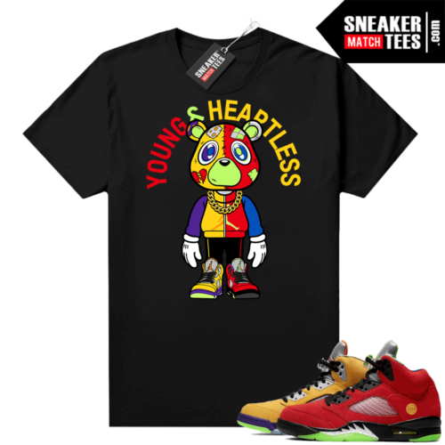 What the 5s Jordan Sneaker Tee Shirts Black Heartless Bear Toon