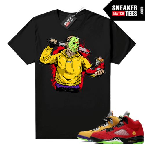 What the 5s Jordan Sneaker Tee Shirts Black Jason Cop