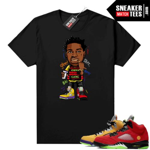 What the 5s Jordan Sneaker Tee Shirts Black Kodak Glee