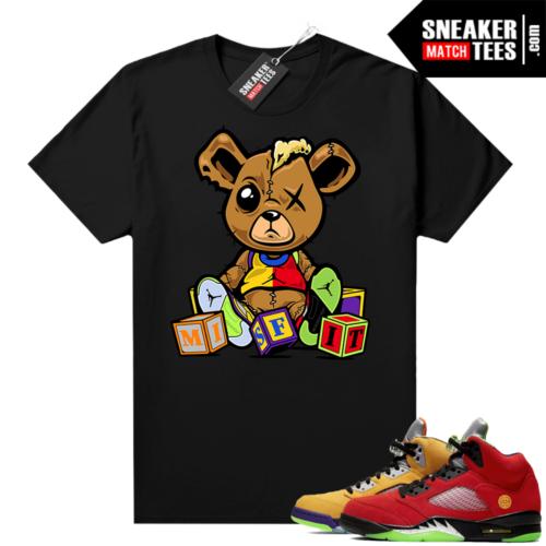 What the 5s Jordan Sneaker Tee Shirts Black Misfit Teddy