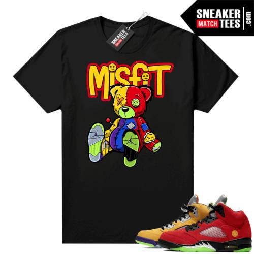 What the 5s Jordan Sneaker Tee Shirts Black Misfit Voodoo Sneaker Bear