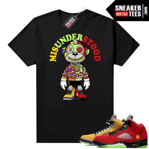 What the 5s Jordan Sneaker Tee Shirts Black Misunderstood Monkey Toon