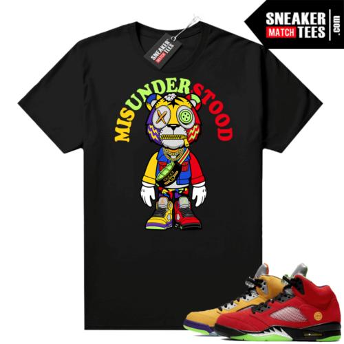 What the 5s Jordan Sneaker Tee Shirts Black Misunderstood Tiger Toon