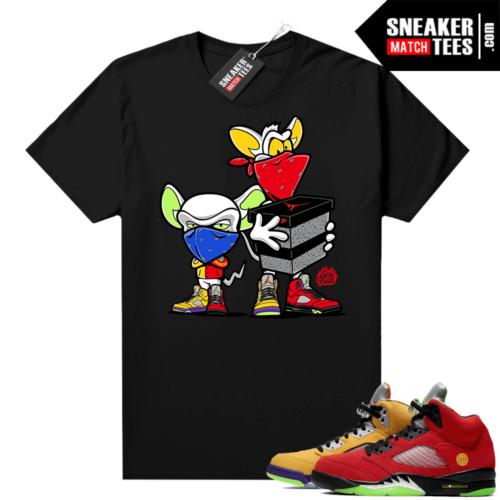 What the 5s Jordan Sneaker Tee Shirts Black Sneaker Heist