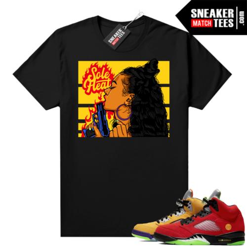 What the 5s Jordan Sneaker Tee Shirts Black Sole Heat