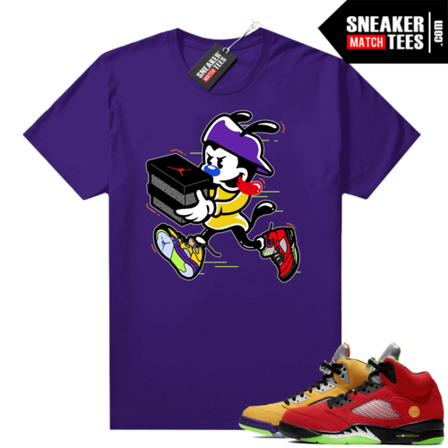 What the 5s Jordan Sneaker Tee Shirts Purple Double Up