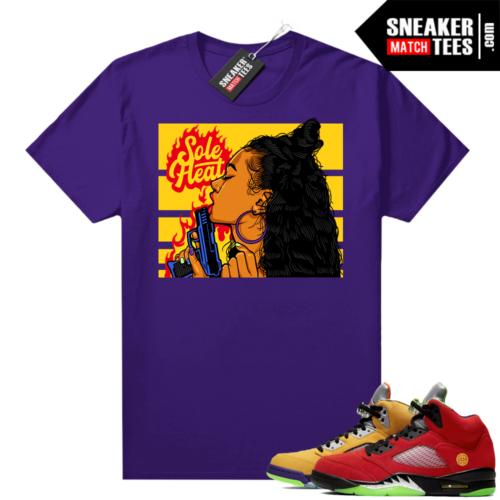 What the 5s Jordan Sneaker Tee Shirts Purple Sole Heat