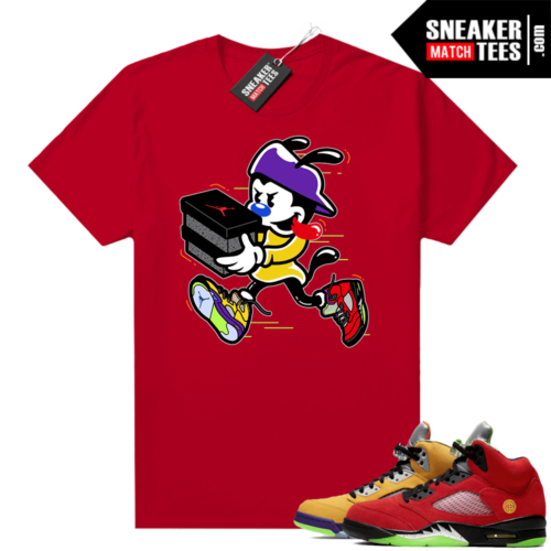 What the 5s Jordan Sneaker Tee Shirts Red Double Up