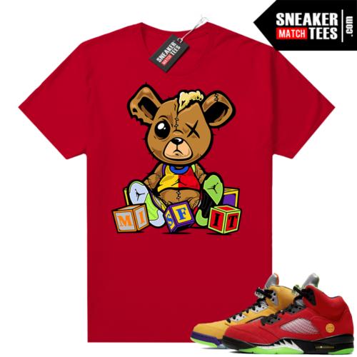 What the 5s Jordan Sneaker Tee Shirts Red Misfit Teddy