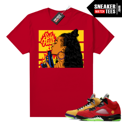 What the 5s Jordan Sneaker Tee Shirts Red Sole Heat