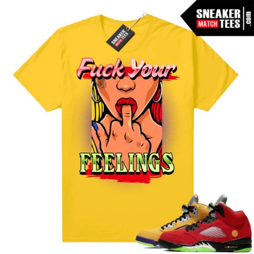 What the 5s Jordan Sneaker Tee Shirts Yellow Feelings