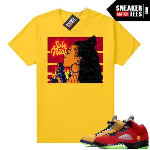 What the 5s Jordan Sneaker Tee Shirts Yellow Sole Heat