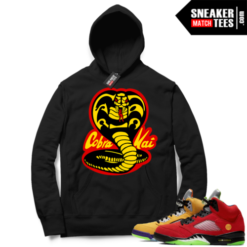 What the 5s Sneaker Hoodie Black Cobra Kai