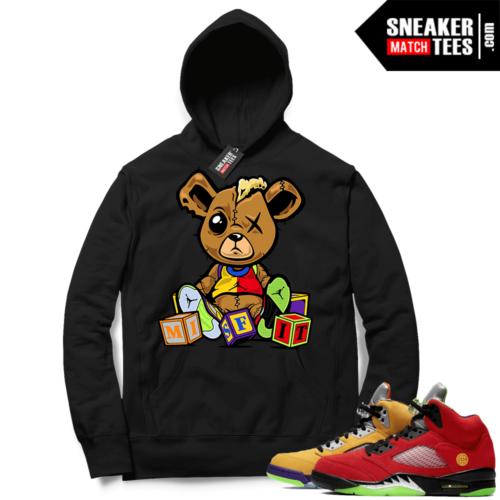 What the 5s Sneaker Hoodie Black Misfit Teddy