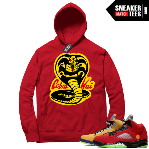 What the 5s Sneaker Hoodie Red Cobra Kai