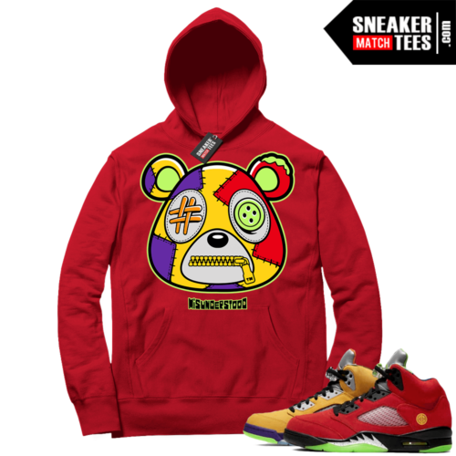 What the 5s Sneaker Hoodie Red Misunderstood Bear