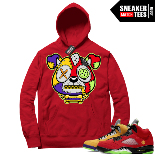 What the 5s Sneaker Hoodie Red Misunderstood Puppy