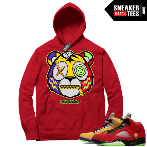 What the 5s Sneaker Hoodie Red Misunderstood Tiger