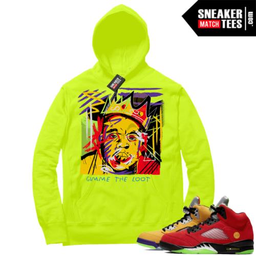 What the 5s Sneaker Hoodie Volt Biggie Basquiat