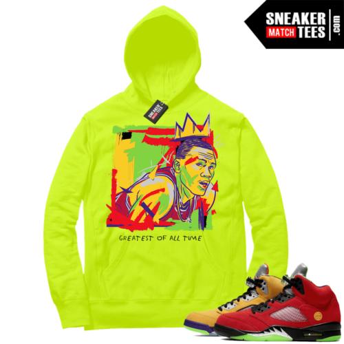 What the 5s Sneaker Hoodie Volt Goat Basquiat