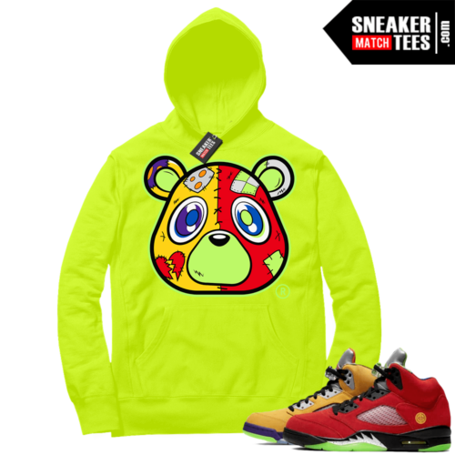 What the 5s Sneaker Hoodie Volt Heartless Bear