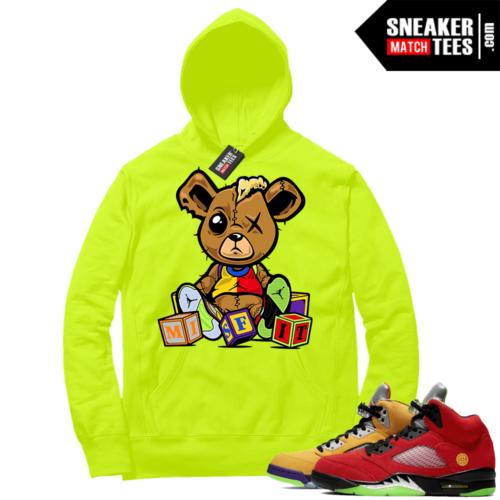 What the 5s Sneaker Hoodie Volt Misfit Teddy
