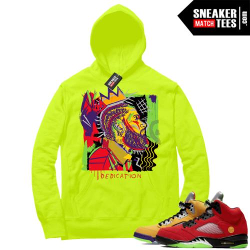 What the 5s Sneaker Hoodie Volt Nipsey Basquiat