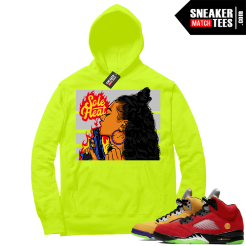 What the 5s Sneaker Hoodie Volt Sole Heat