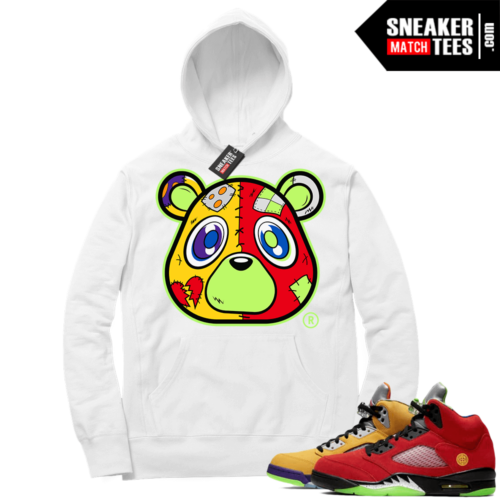 What the 5s Sneaker Hoodie White Heartless Bear