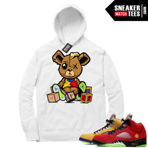 What the 5s Sneaker Hoodie White Misfit Teddy