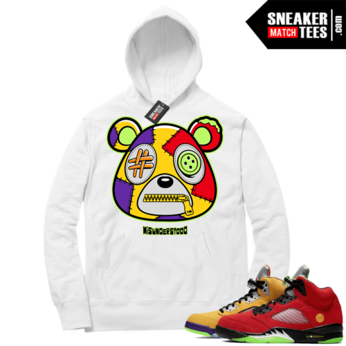 What the 5s Sneaker Hoodie White Misunderstood Bear