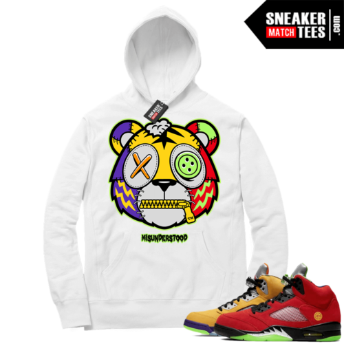 What the 5s Sneaker Hoodie White Misunderstood Tiger