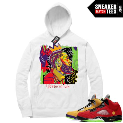 What the 5s Sneaker Hoodie White Nipsey Basquiat