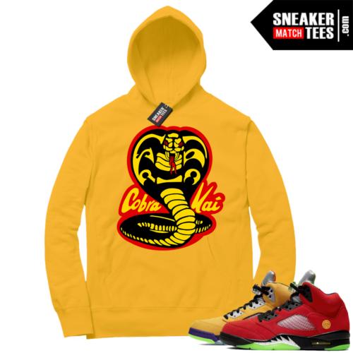 What the 5s Sneaker Hoodie Yellow Cobra Kai