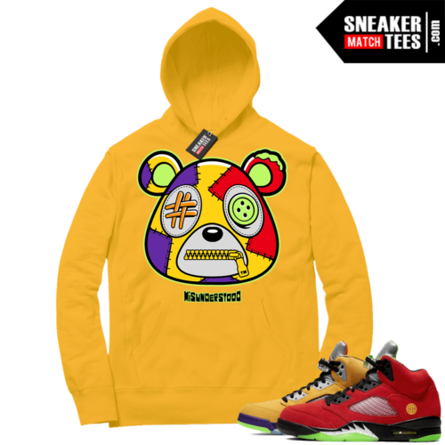 What the 5s Sneaker Hoodie Yellow Gold Misunderstood Bear