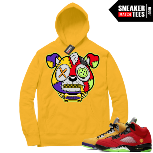 What the 5s Sneaker Hoodie Yellow Gold Misunderstood Puppy